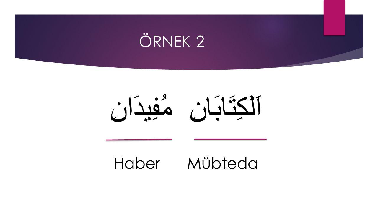 ÖRNEK 2 اَلْكِتَابَانِ مُفِيدَانِ Haber Mübteda