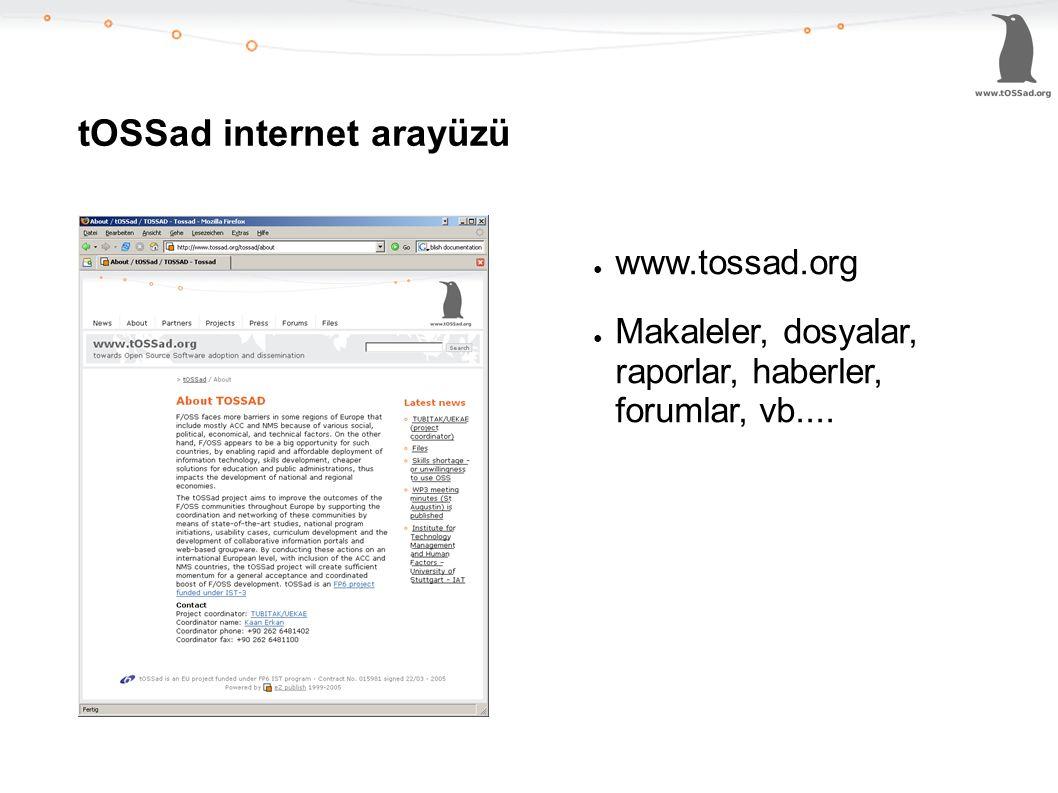 tOSSad internet arayüzü ● www.tossad.org ● Makaleler, dosyalar, raporlar, haberler, forumlar, vb....