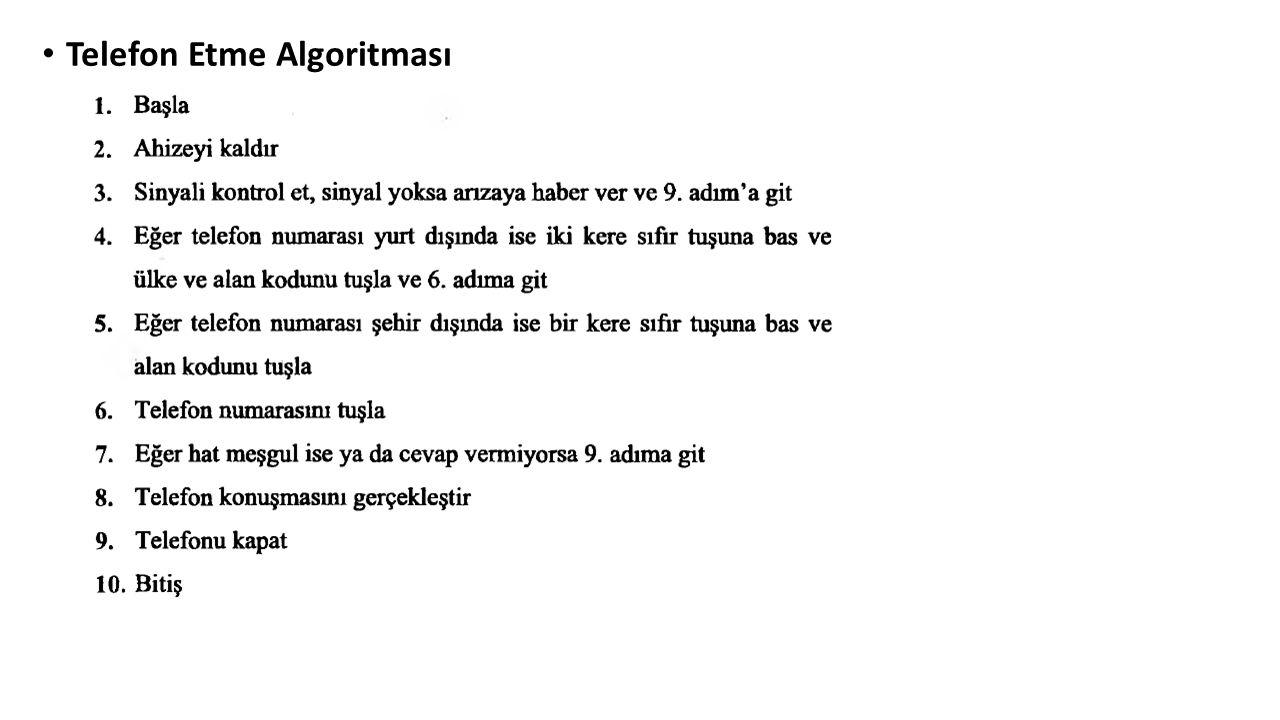 Telefon Etme Algoritması