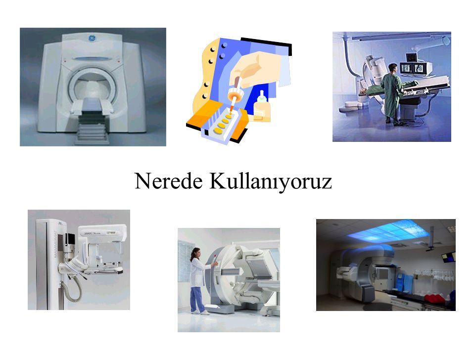 ÇALIŞMA ALANLARIUYGULAMALAR RadyolojiDijital/konvansiyonel,Floroskopi, BT, Mammografi,Kemik densitometresi,Girişimsel uyg.vb… Radyasyon OnkolojisiLineer hızlandırıcılar,Theratron (Co-60),Brakiterapi sistemleri, Simülatörler Nükleer TıpTanı ve tedavi radyoizotopları, Kalibrasyon kaynakları PET/BT.