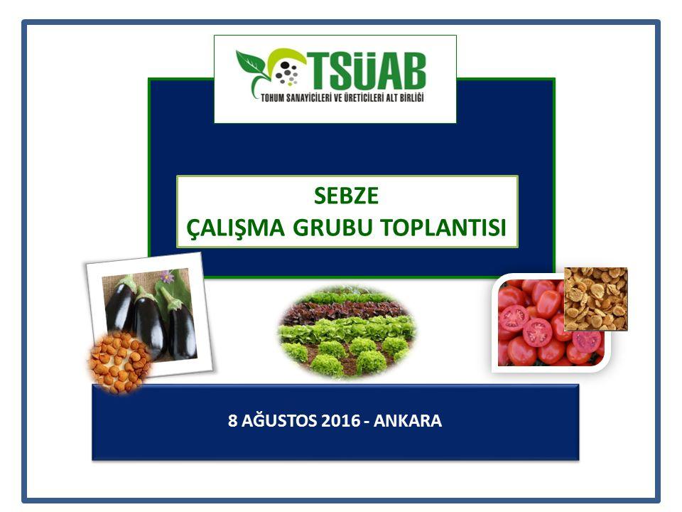 8 AĞUSTOS 2016 - ANKARA SEBZE ÇALIŞMA GRUBU TOPLANTISI