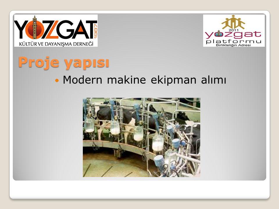 Proje yapısı Modern makine ekipman alımı