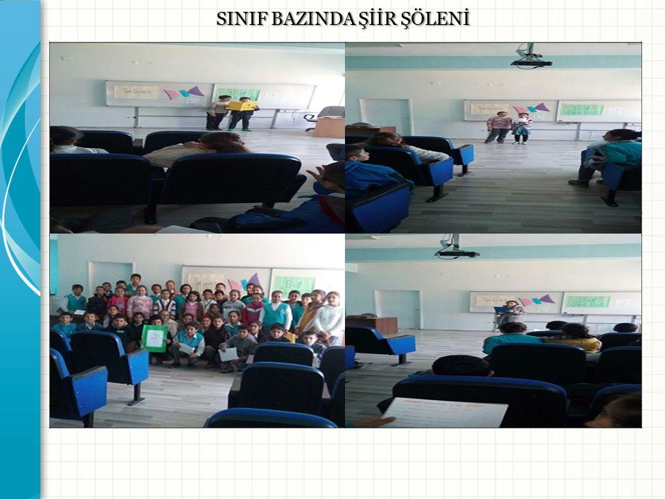 SINIF BAZINDA ŞİİR ŞÖLENİ Resim -1- Resim -2- Resim -3- Resim -4-