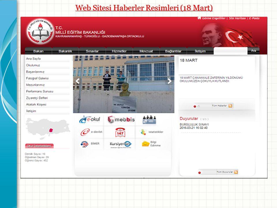 Web Sitesi Haberler Resimleri (18 Mart) Resim -1- Resim -2- Resim -3- Resim -4-