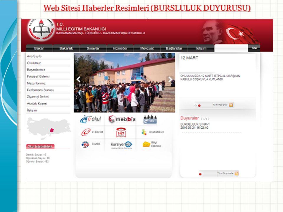 Web Sitesi Haberler Resimleri (BURSLULUK DUYURUSU) Resim -1- Resim -2- Resim -3- Resim -4-
