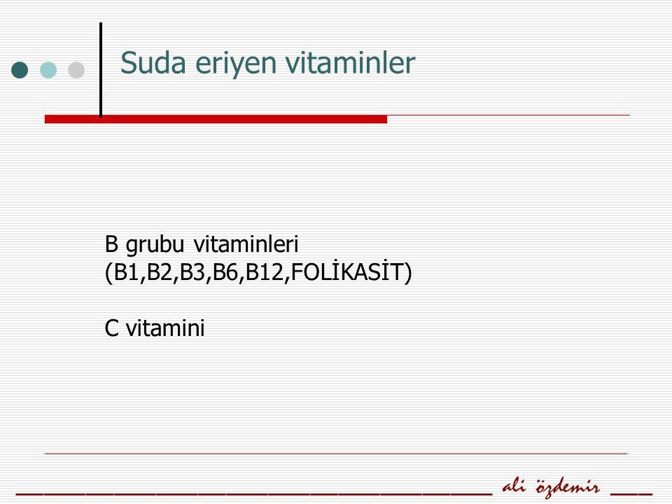 FOLİK ASİT (FOLAT) Suda çözünen ve bu yüzden depo edilemeyen bir vitamindir.