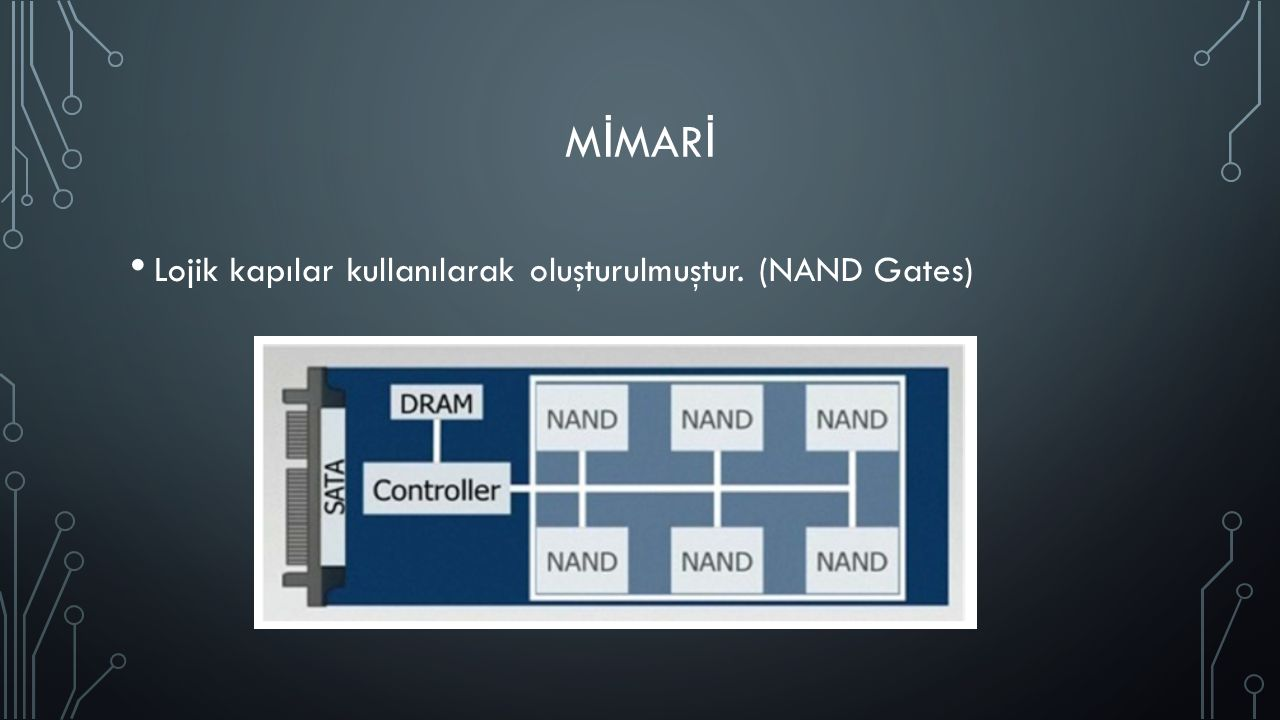 M İ MAR İ Lojik kapılar kullanılarak oluşturulmuştur. (NAND Gates)