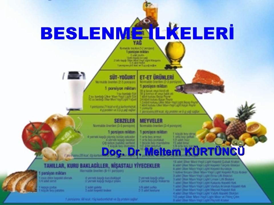 BESLENME Beslenmenin amacı: Bireyin yaşı, cinsiyeti ve içinde bulunduğu fizyolojik ortama göre gerekli olan besin öğelerinin yeterince alınmasıdır.