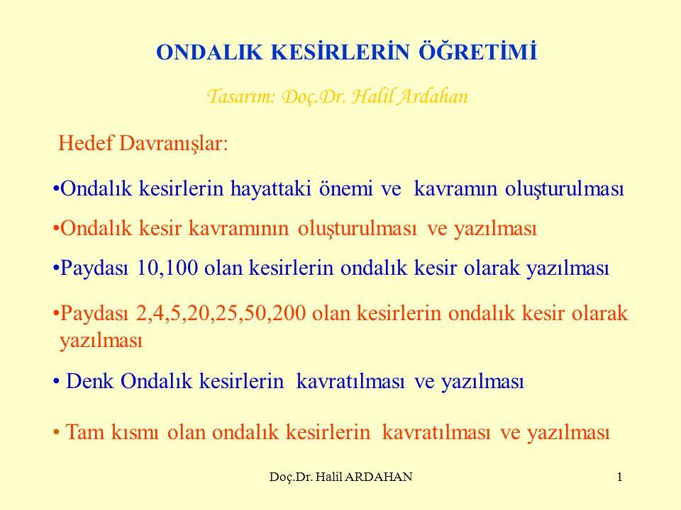 Doç.Dr. Halil ARDAHAN31 Termometrenin gösterdiği sıcaklık kaç derecedir?