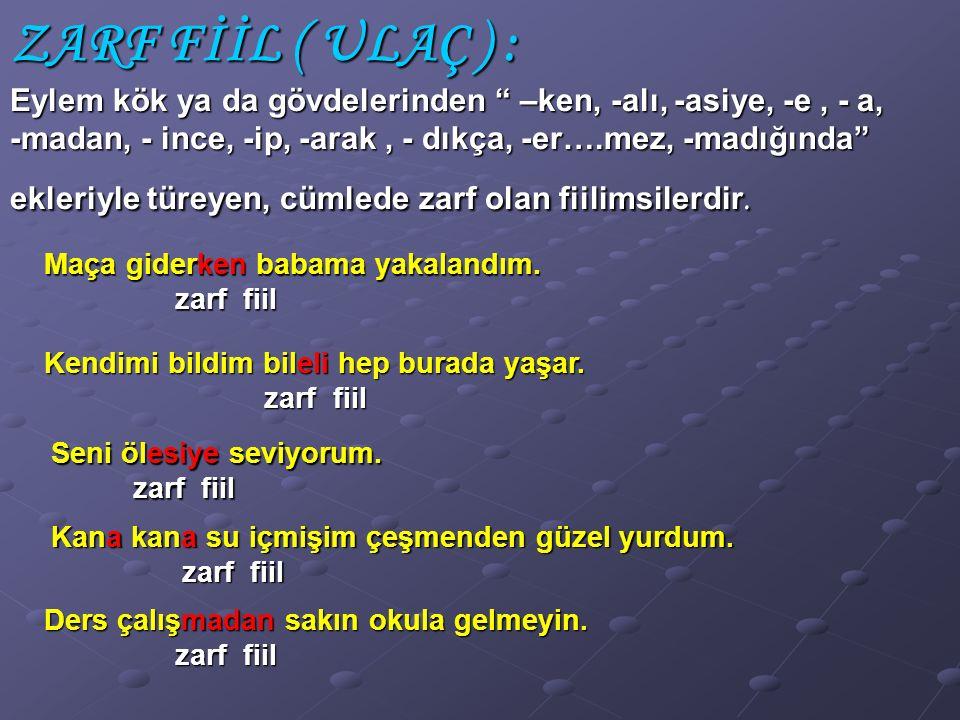 (1999-KUR) Aşağıdaki cümlelerin hangisinde sıfat – fiil vardır? A) A) Pazara gitmek için evden ayrıldık. A) B) B) Açık havaya çıkınca üşümeye başladık