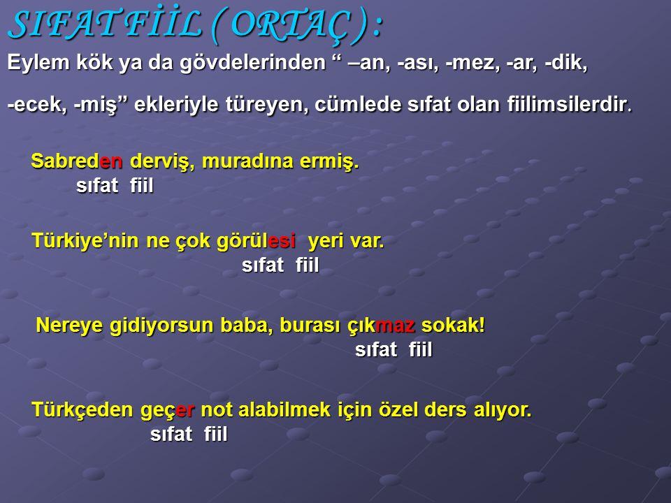 (2000-DPY) Aşağıdaki cümlelerin hangisinde isim – fiil yoktur? A) A) Kayıt için okul müdürüyle görüştüm. A) B) B) Açılışa Kaymakam Bey de katılacak. B