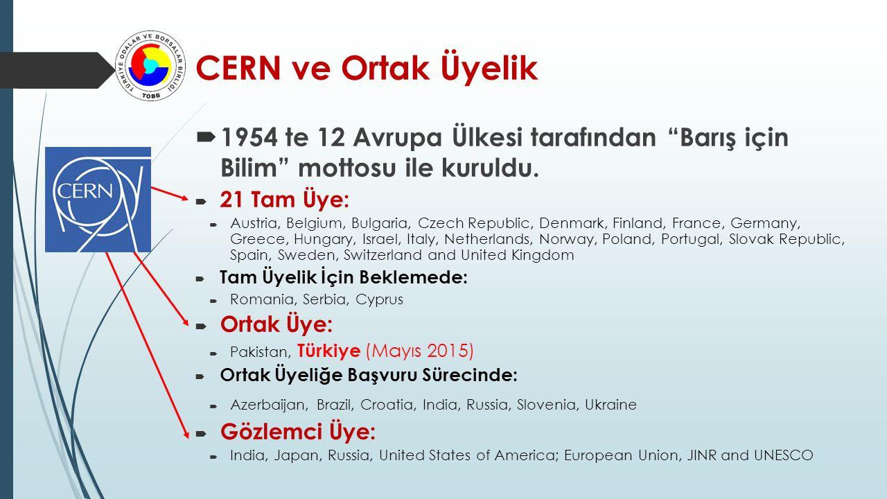  Anlaşmayla birlikte, Üniversitelerimiz ve Türk Bilim insanlarımızın CERN de yürütülen projelerde daha aktif yer alması beklenmekte olup :  Türk Sanayicilerimiz ve üreticilerimiz CERN de yapılan alımlar ve ihalelere katılabilecek,  Türk iş profesyonellerimiz ve Türk bilim insanlarımız CERN 'de kadrolu çalışabilecekler,  Üniversite Öğrencilerimiz ve yeni mezunlarımız CERN de açılan programlara katılabileceklerdir.