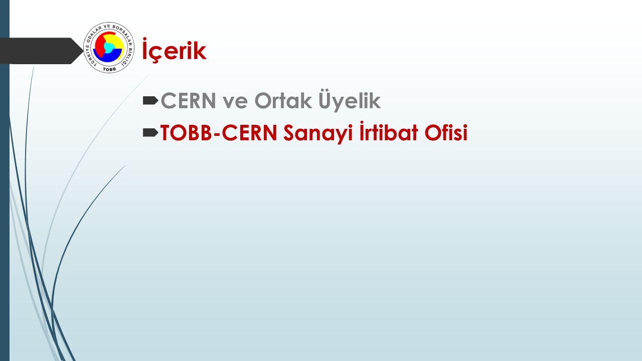 TOBB-CERN Sanayi İrtibat Ofisi  Sanayi İrtibat Görevlileri (Industrial Liason Officers - ILO)  Dışişleri Bakanlığı  CERN  İrtibat Noktası  CERN - Türk Sanayi ve Endüstrisi  Koordinasyon – CERN  Firmalar.