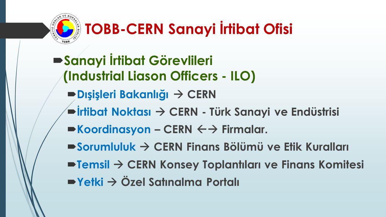 TOBB-CERN Sanayi İrtibat Ofisi  Haziran-2015'te çalışmalara başlandı.
