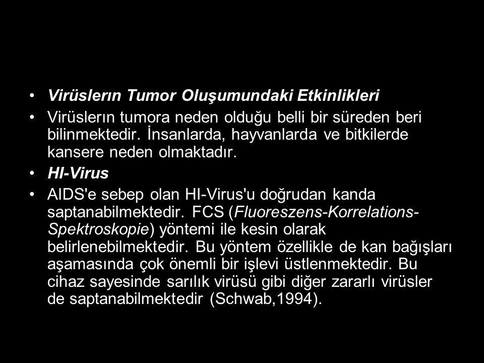 Virüslerın Tumor Oluşumundaki Etkinlikleri Virüslerın tumora neden olduğu belli bir süreden beri bilinmektedir. İnsanlarda, hayvanlarda ve bitkilerde