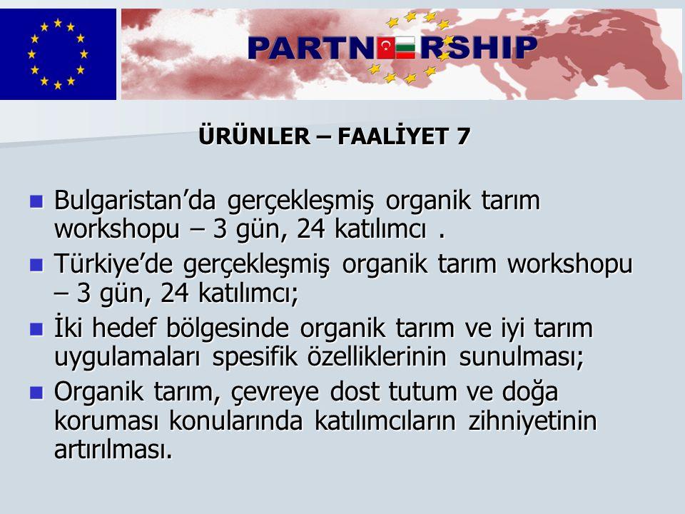 Bulgaristan'da gerçekleşmiş organik tarım workshopu – 3 gün, 24 katılımcı.