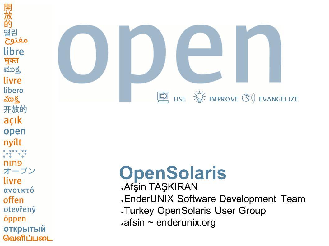 12 USEIMPROVEEVANGELIZE Turkey OpenSolaris User Group -TOSUG ● Türkiye OpenSolaris Kullanıcıları Grubu ● Ocak 2006 da Türkiye deki OpenSolaris kullanıcılarına bilgi paylaşımı imkanı sunması ve projeye katma değer sağlanabilmesi amacıyla kuruldu.