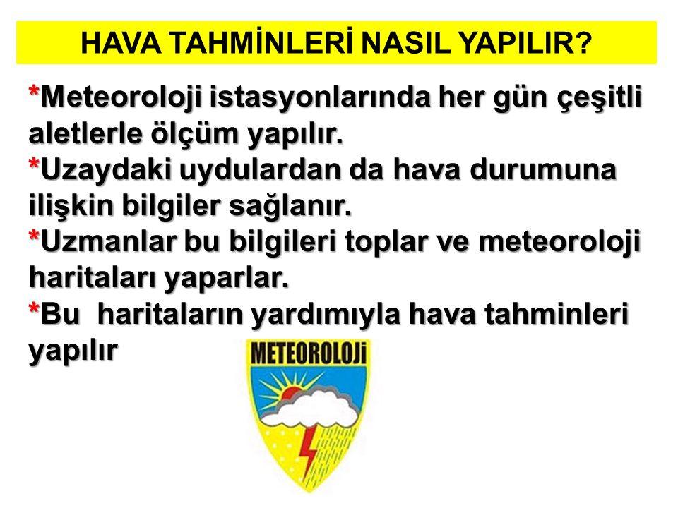 HAVA TAHMİNLERİ NASIL YAPILIR.