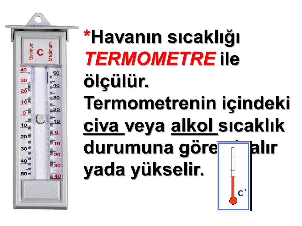 *Havanın sıcaklığı TERMOMETRE ile ölçülür.