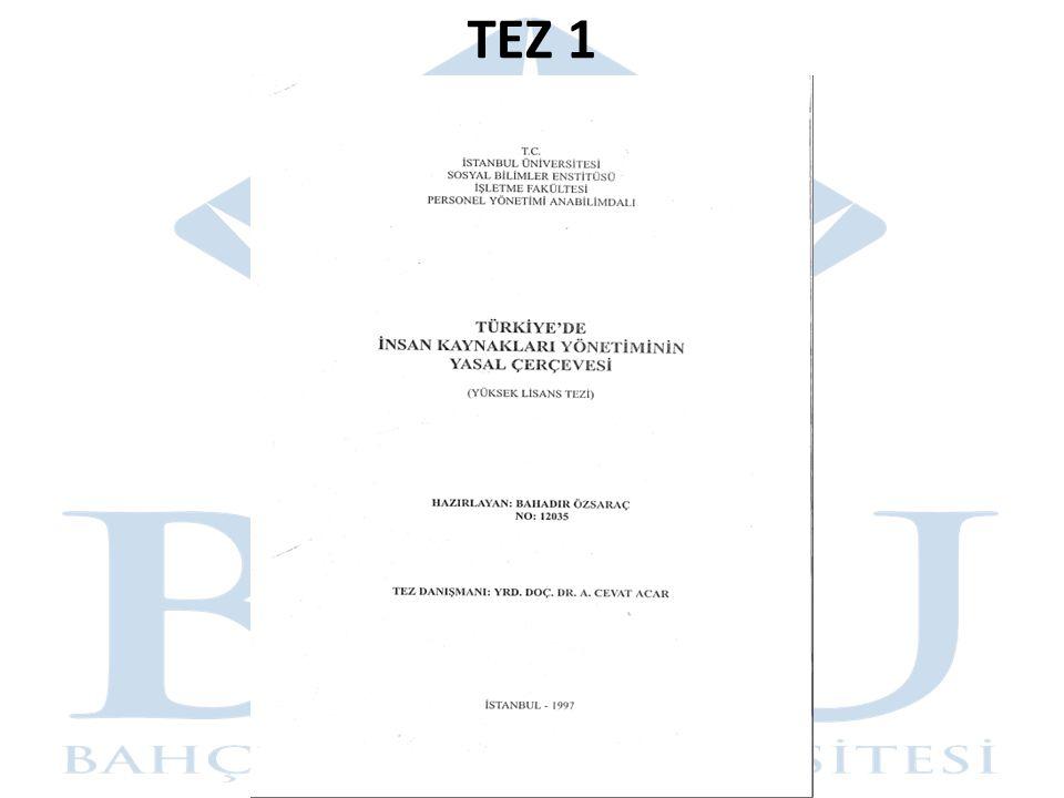 TEZ 1