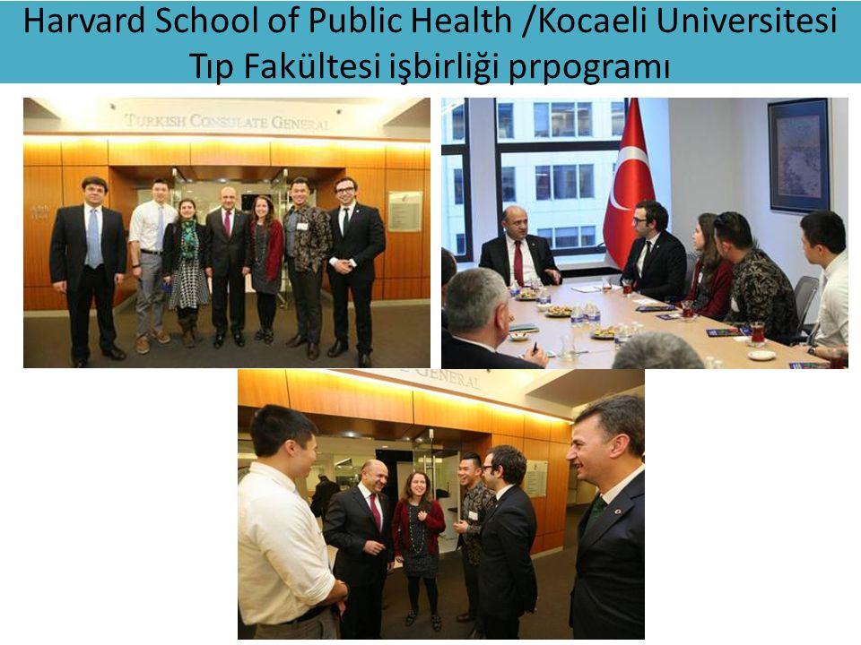 Harvard School of Public Health /Kocaeli Universitesi Tıp Fakültesi işbirliği prpogramı