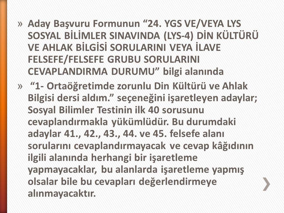 » Aday Başvuru Formunun 24.