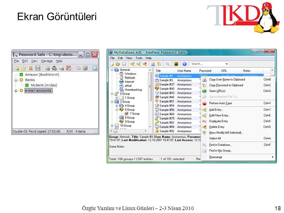 Özgür Yazılım ve Linux Günleri – 2-3 Nisan 2010 18 Ekran Görüntüleri