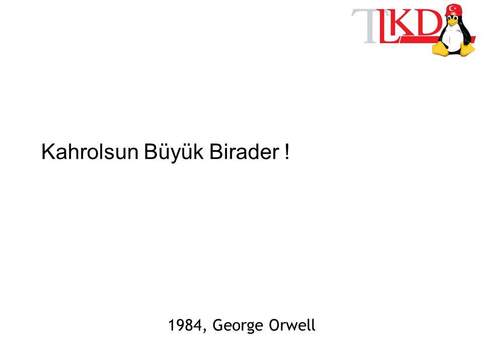 Kahrolsun Büyük Birader ! 1984, George Orwell
