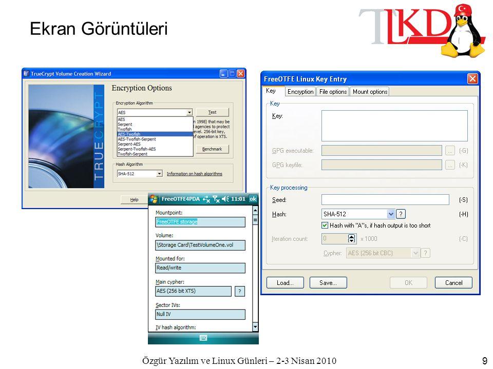 Özgür Yazılım ve Linux Günleri – 2-3 Nisan 2010 9 Ekran Görüntüleri