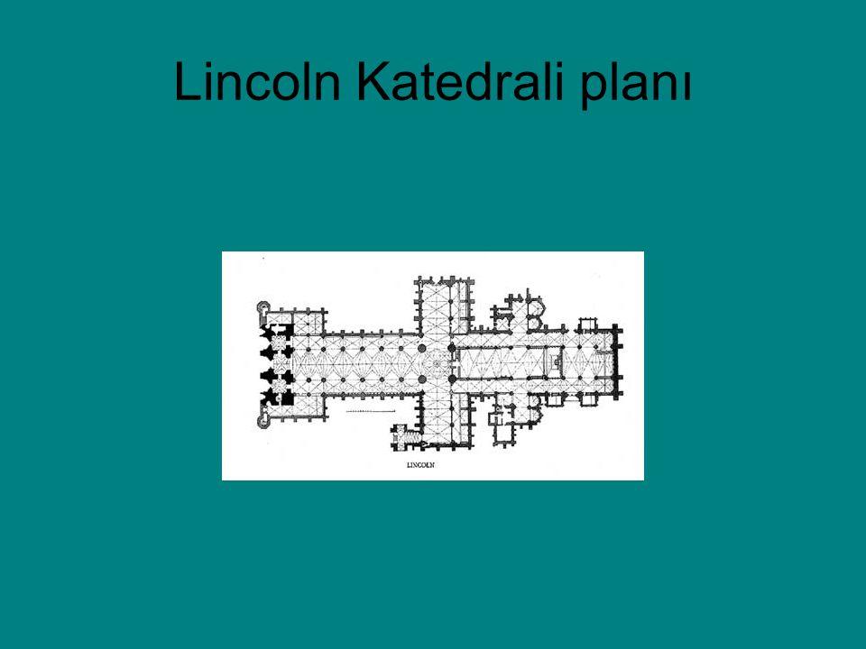 Lincoln Katedrali planı