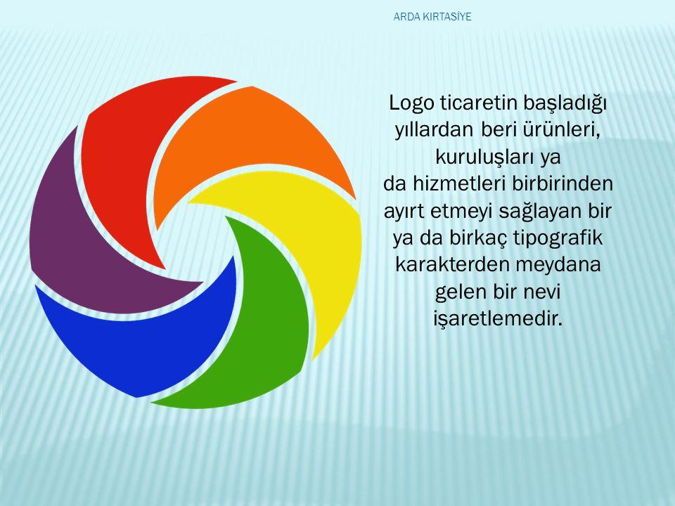 Logo ticaretin başladığı yıllardan beri ürünleri, kuruluşları ya da hizmetleri birbirinden ayırt etmeyi sağlayan bir ya da birkaç tipografik karakterden meydana gelen bir nevi işaretlemedir.