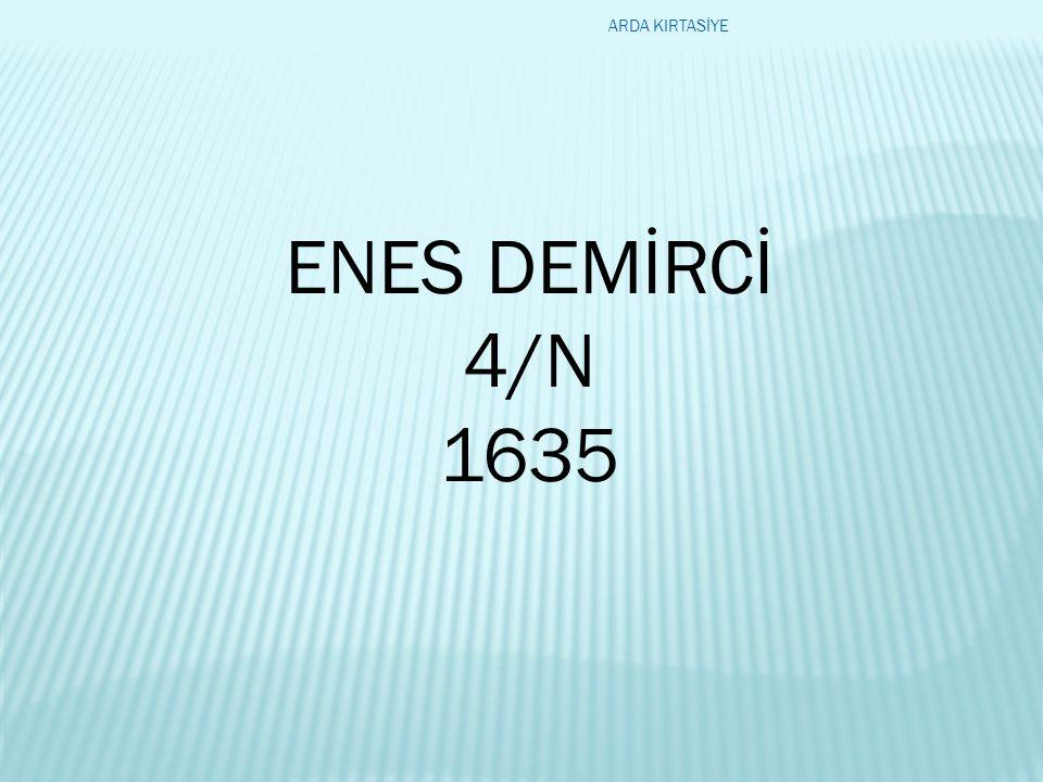 ENES DEMİRCİ 4/N 1635 ARDA KIRTASİYE