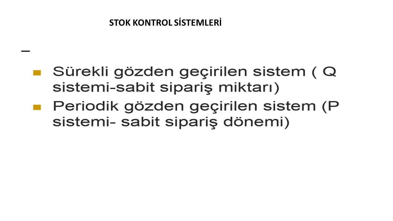 STOK KONTROL SİSTEMLERİ