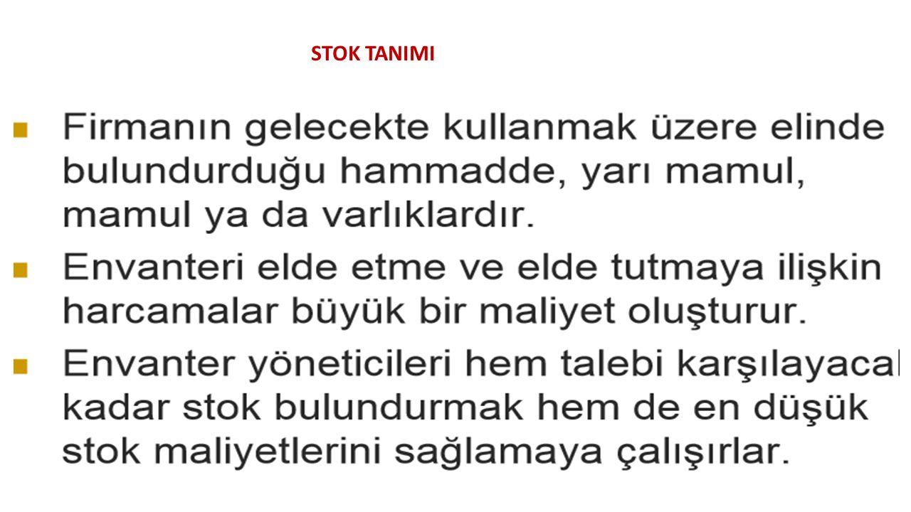STOK TANIMI