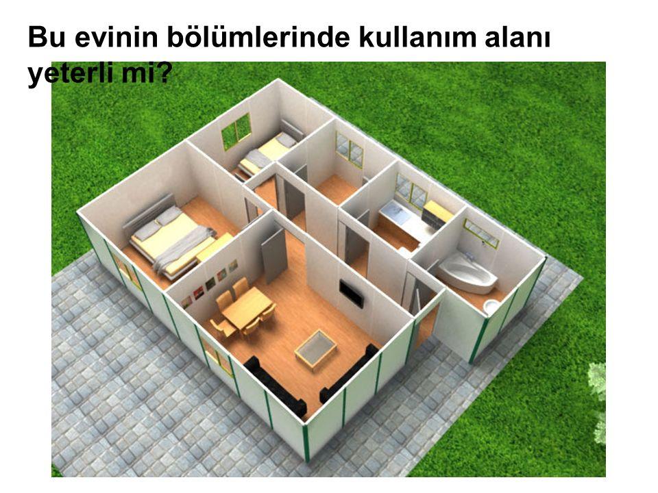 Bu evinin bölümlerinde kullanım alanı yeterli mi?