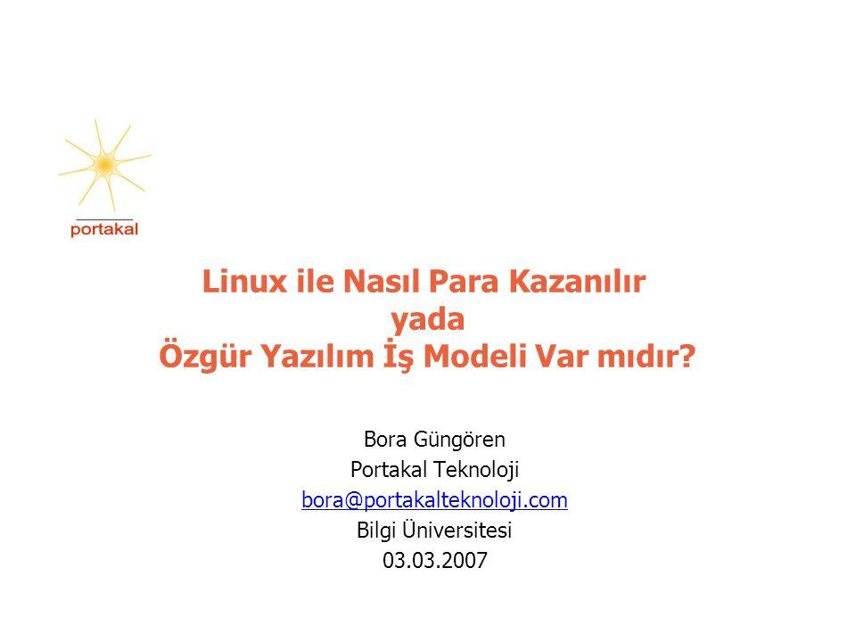 12 www.portakalteknoloji.com19/09/2016 Özgür yazılımı kullandırmak Özgür yazılımları kullanıyorsanız o zaman onları kullandırmak üzerine iş kurabilirsiniz.