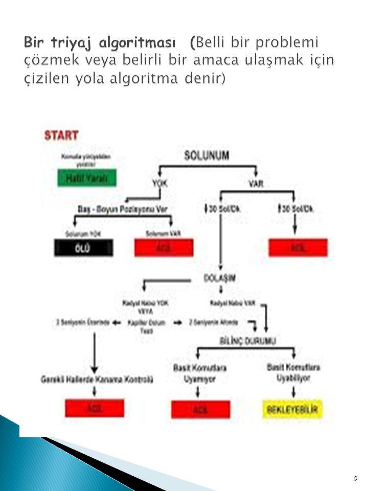  4 ayrı renk kodu vardır :  Siyah :Ölü ya da ölü olarak kabul edilen kişidir.