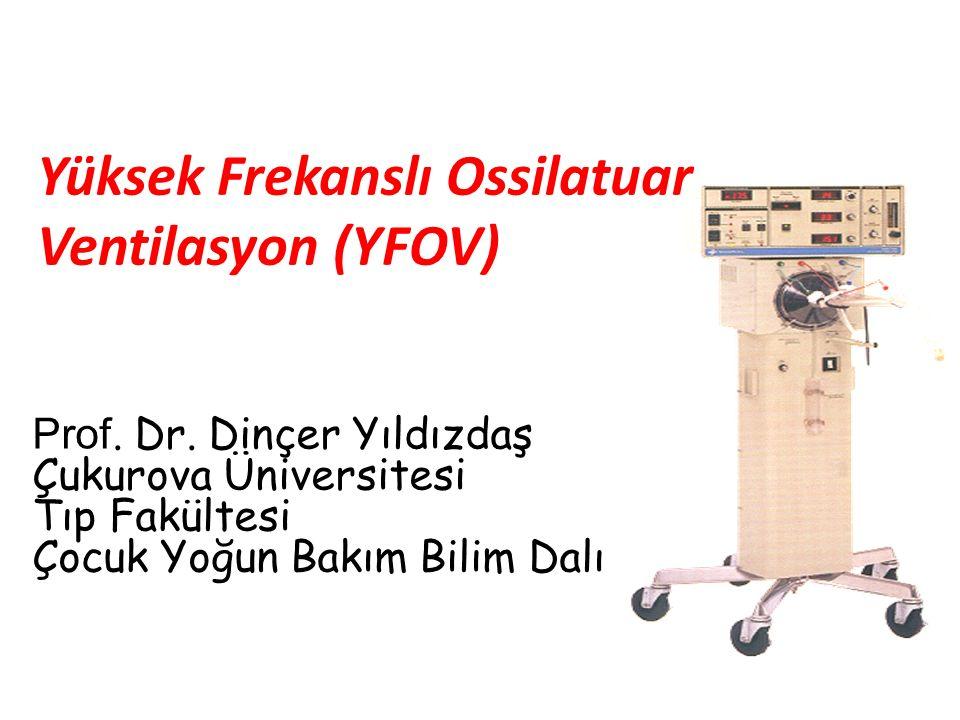 Yüksek Frekanslı Ossilatuar Ventilasyon (YFOV) Prof. Dr. Dinçer Yıldızdaş Çukurova Üniversitesi Tıp Fakültesi Çocuk Yoğun Bakım Bilim Dalı