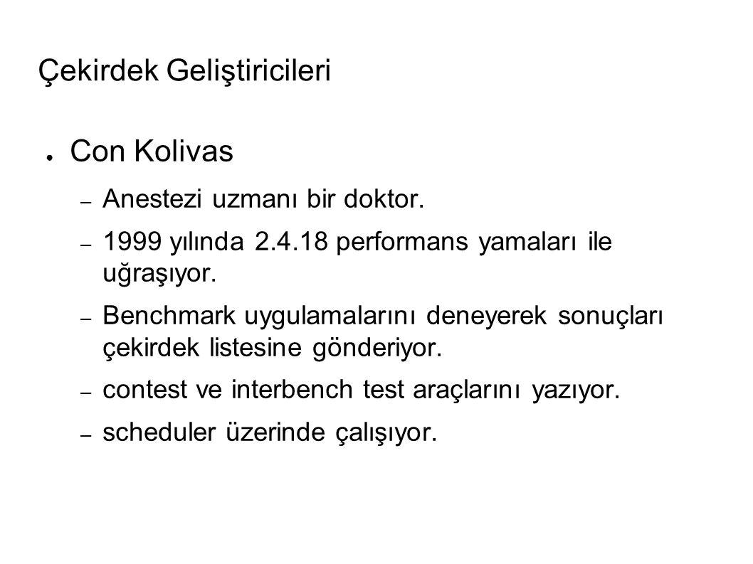 Çekirdek Geliştiricileri ● Con Kolivas – Anestezi uzmanı bir doktor.