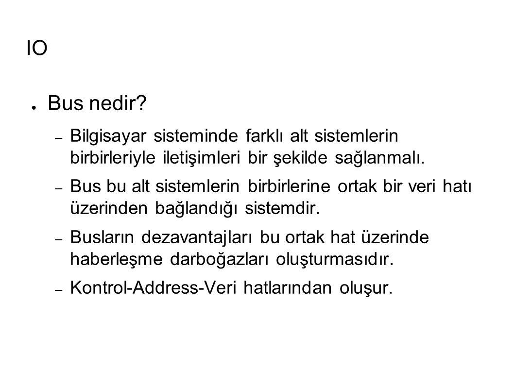 IO ● Bus nedir.