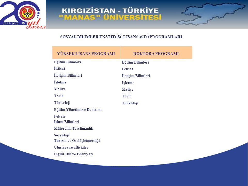 ANABİLİM DALI BAŞKANLARI Prof.Dr. Akmatalı ALİMBEKOVEğitim Bilimleri Anabilim Dalı Başkan V.