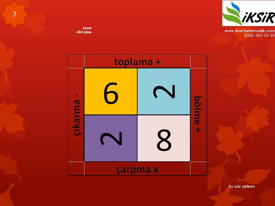 www.iksirdanismanlik.com 0332 353 53 35 7 beceri dört işlem by aziz yıldırım