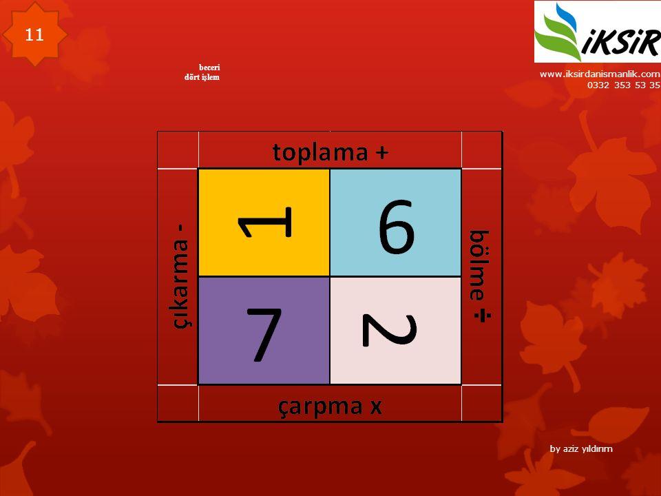 www.iksirdanismanlik.com 0332 353 53 35 11 beceri dört işlem by aziz yıldırım