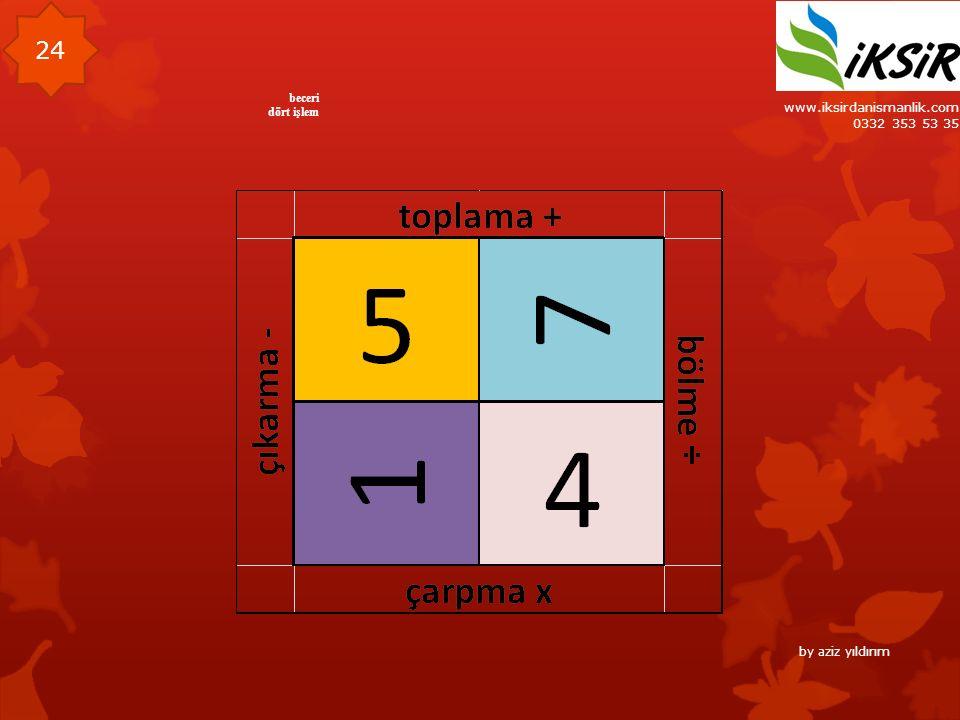 www.iksirdanismanlik.com 0332 353 53 35 24 beceri dört işlem by aziz yıldırım