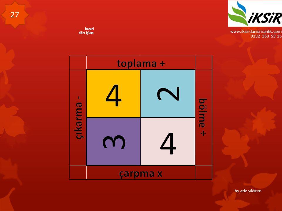 www.iksirdanismanlik.com 0332 353 53 35 27 beceri dört işlem by aziz yıldırım