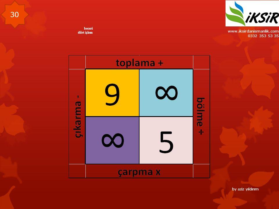 www.iksirdanismanlik.com 0332 353 53 35 30 beceri dört işlem by aziz yıldırım