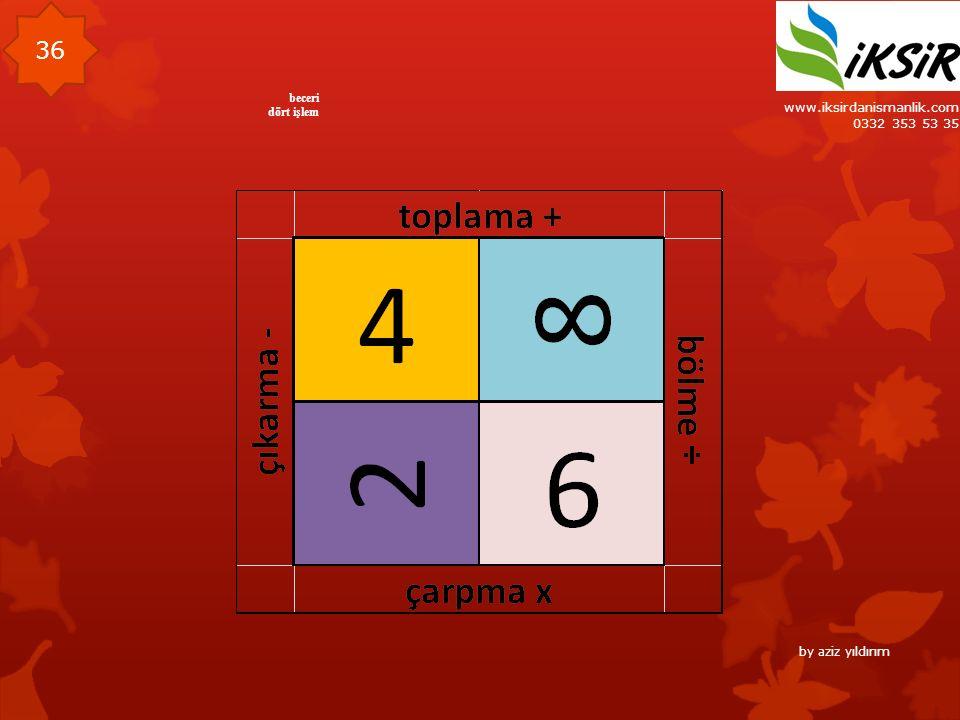 www.iksirdanismanlik.com 0332 353 53 35 36 beceri dört işlem by aziz yıldırım