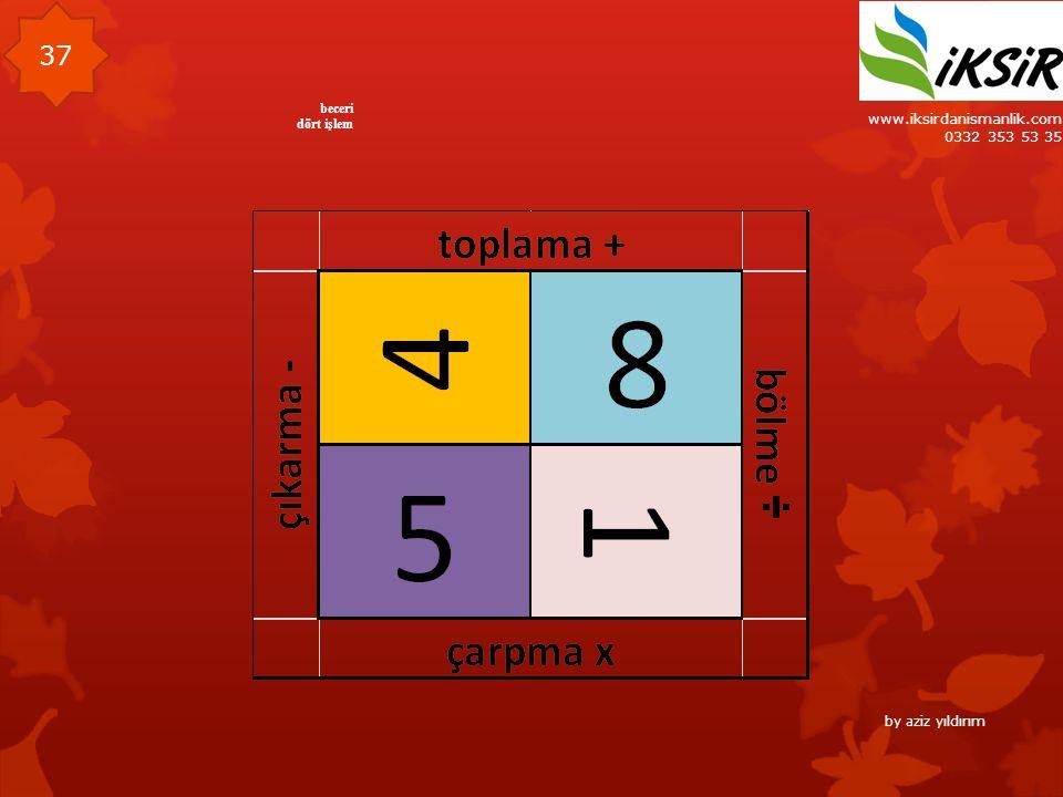 www.iksirdanismanlik.com 0332 353 53 35 37 beceri dört işlem by aziz yıldırım
