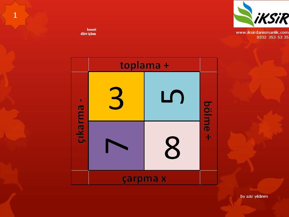 www.iksirdanismanlik.com 0332 353 53 35 beceri dört işlem 1 by aziz yıldırım