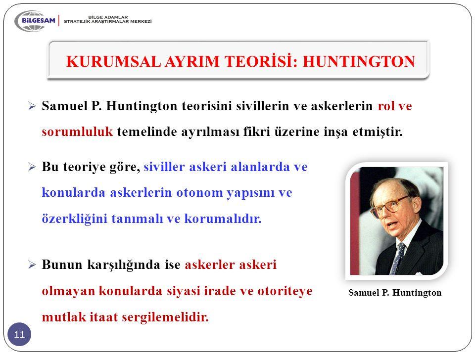 11 KURUMSAL AYRIM TEORİSİ: HUNTINGTON  Samuel P.
